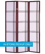 New RM Wood Frame Cherry 3-Panel Screen
